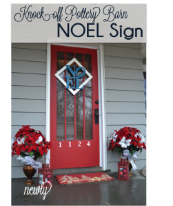 NOEL front door decor and exterior holiday decor for Dare to deck the halls