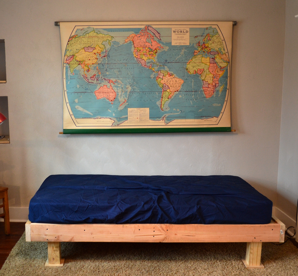 A Faux Upholstered Bed Newlywoodwards