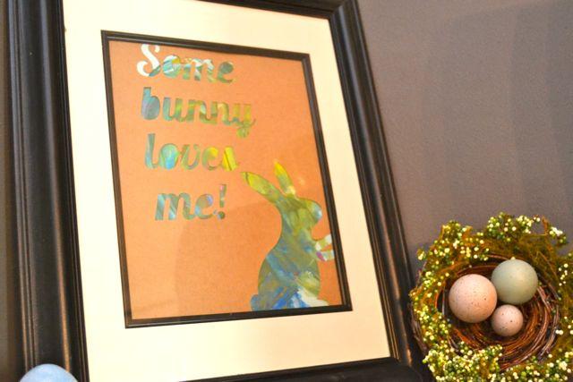 Easter Finger painting artwork NewlyWoodwards