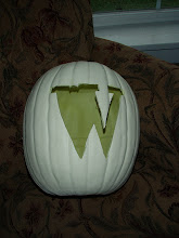 Succeeding (and failing) at monogramming a pumpkin