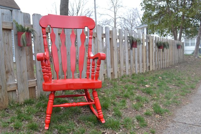 Glossy Red Rocking Chair - NewlyWoodwards  Source: newlywoodwards ...