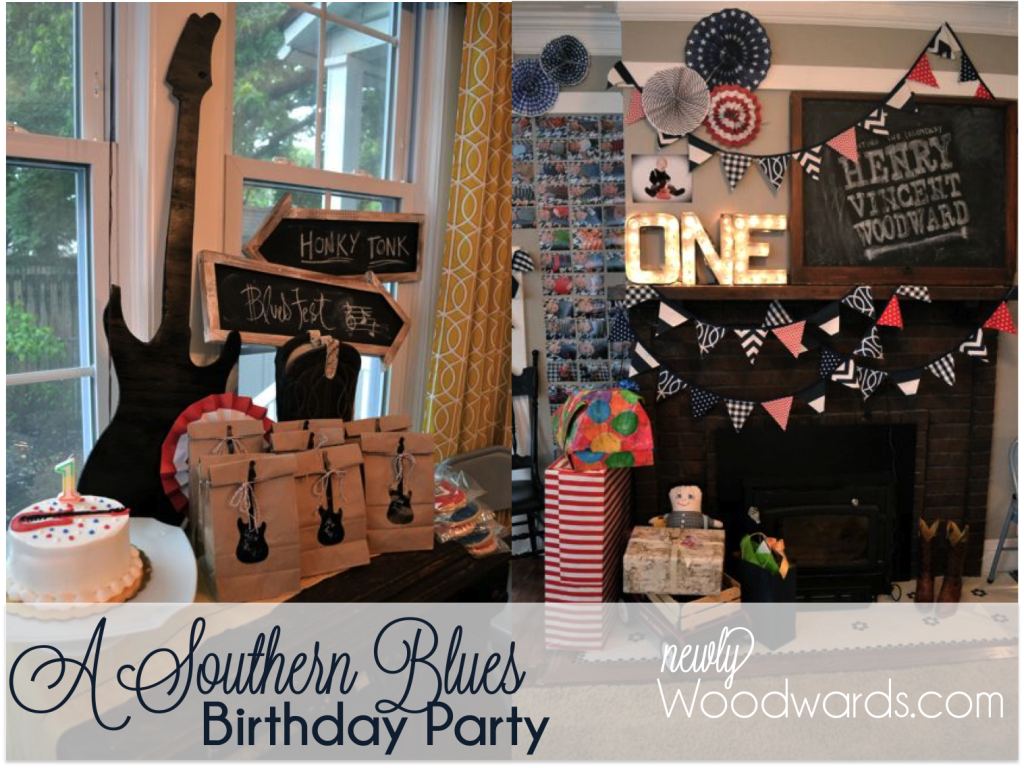 A Southern Blues Birthday Party For A One Year Old Newlywoodwards