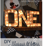 Marquis lit letters DIY