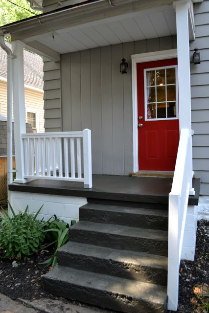 Painting a concrete porch newlywoodwards - Paint exterior wood set ...