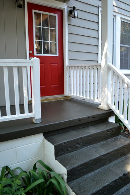 Painting a concrete porch newlywoodwards for Concrete patio paint colors ideas