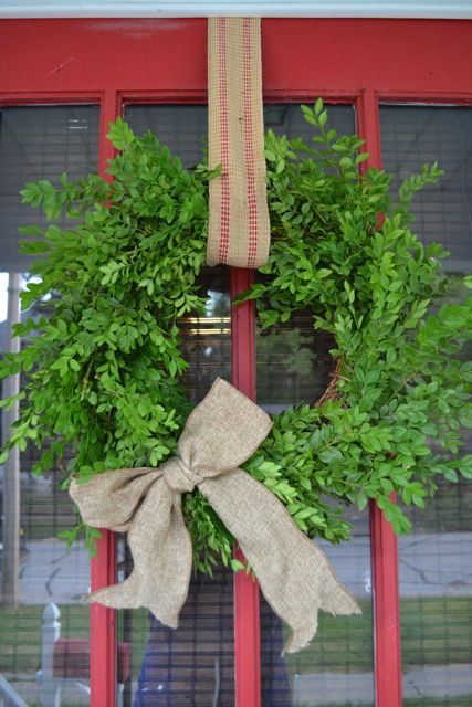 DIY Boxwood Wreath08