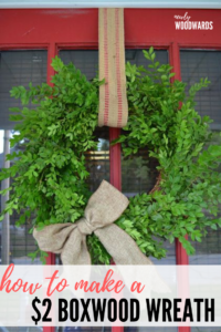 How to make a $2 boxwood wreath