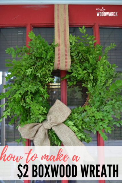 How to make a $2 boxwood wreath