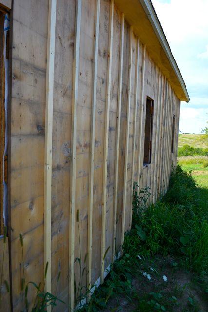 True Board And Batten Barn Siding Barn Raising Progress
