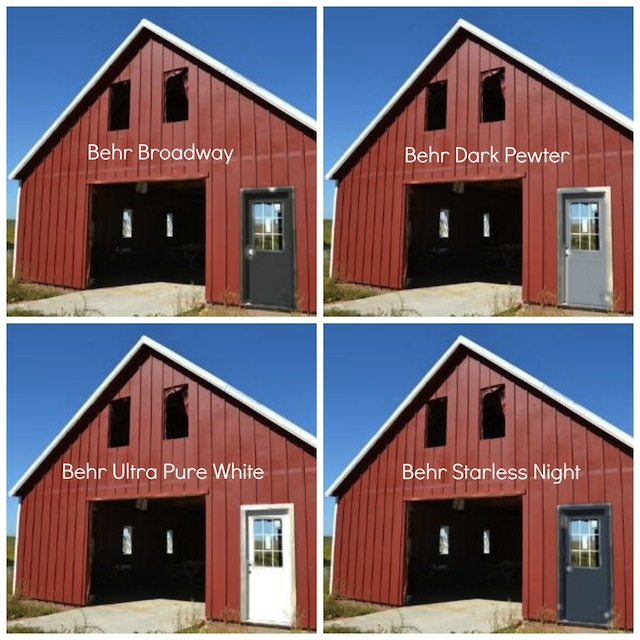 Barn door colors