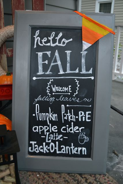 Fall chalkboard sign craft cabinets3
