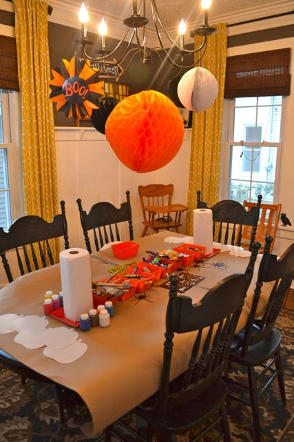 Halloween pumpkin decorating for toddlers1