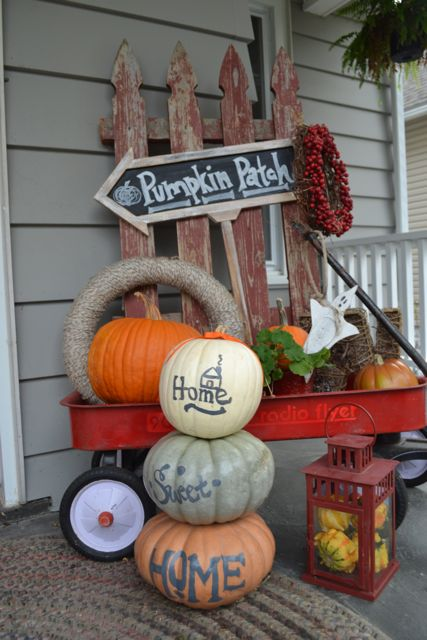 Home Sweet Home Painted Pumpkins2
