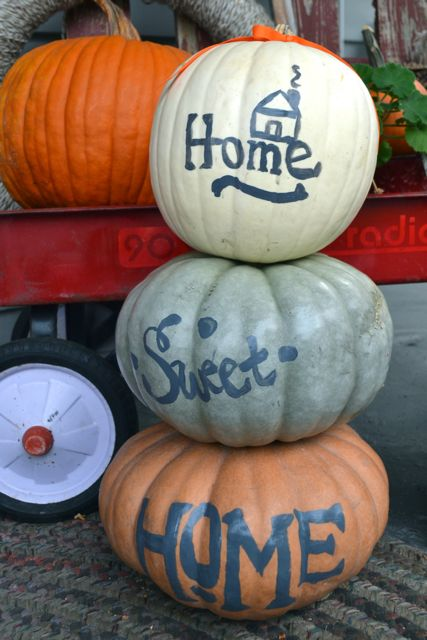 Home Sweet Home Painted Pumpkins3