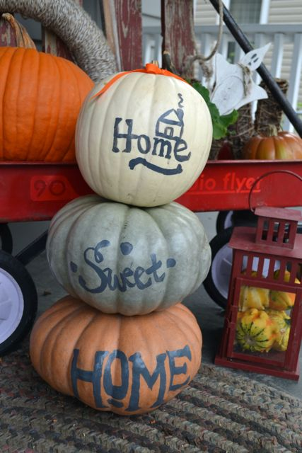 Home Sweet Home Painted Pumpkins4