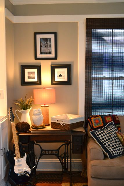 than the small end table that was there before . (The small end table ...