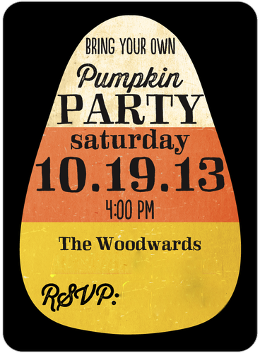 Pumpkin Party Invite
