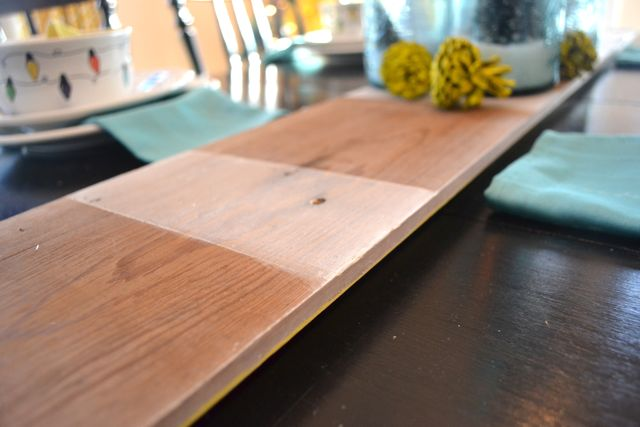 Barn wood striped table runner6