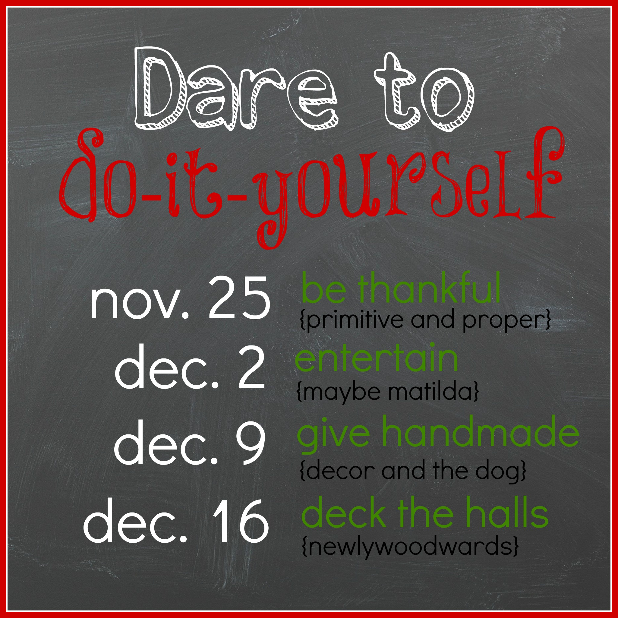 Dare to do-it-yourself button 2013