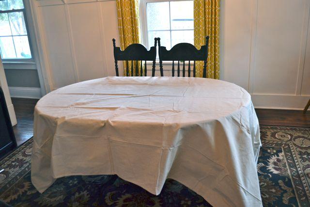 Drop Cloth Custom Ruffled Tablecloth02