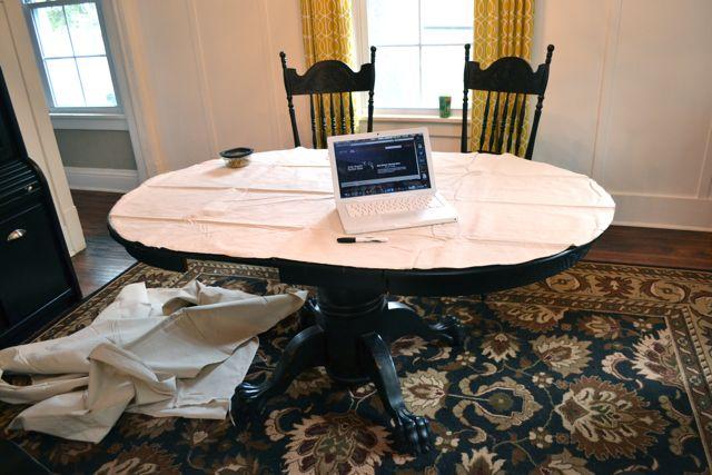 Drop Cloth Custom Ruffled Tablecloth04