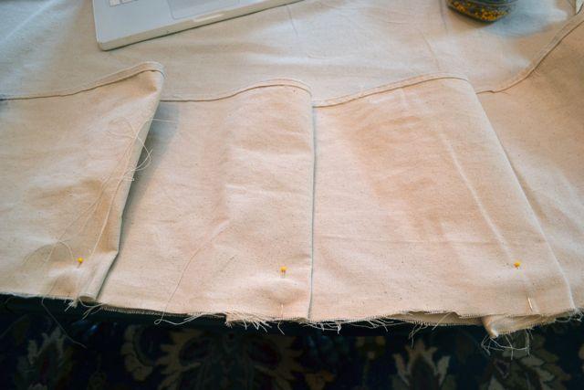 Drop Cloth Custom Ruffled Tablecloth07