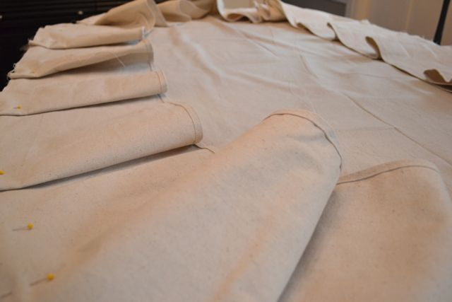 Drop Cloth Custom Ruffled Tablecloth10
