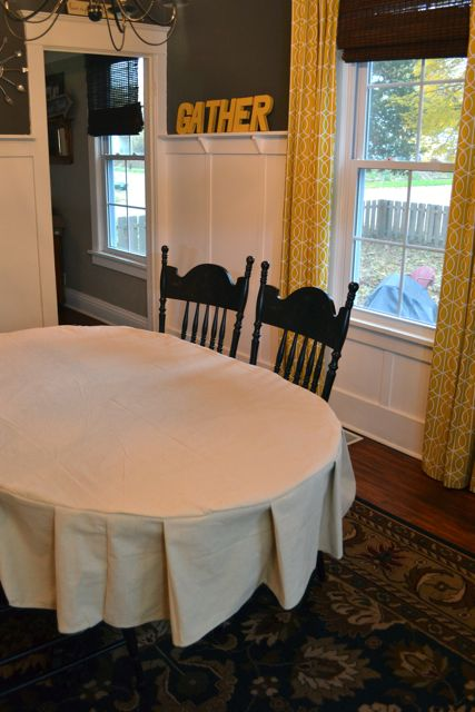 Drop Cloth Custom Ruffled Tablecloth11