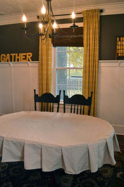 Drop Cloth Custom Ruffled Tablecloth12