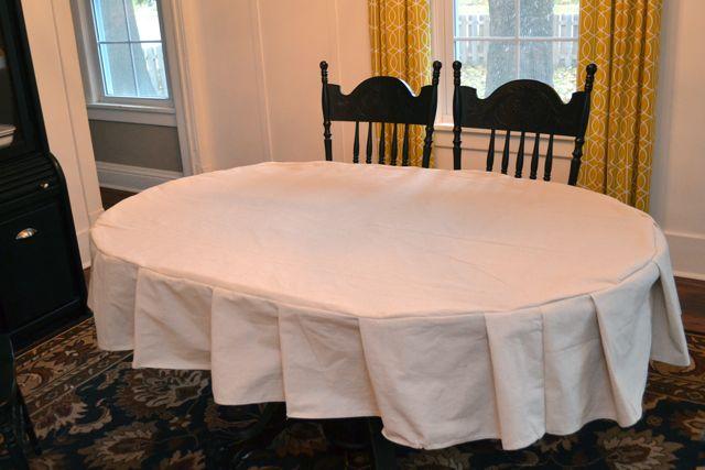 Drop Cloth Custom Ruffled Tablecloth13