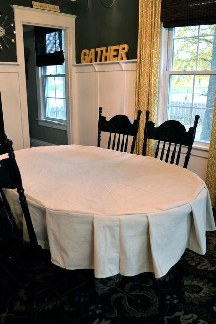 Drop Cloth Custom Ruffled Tablecloth14