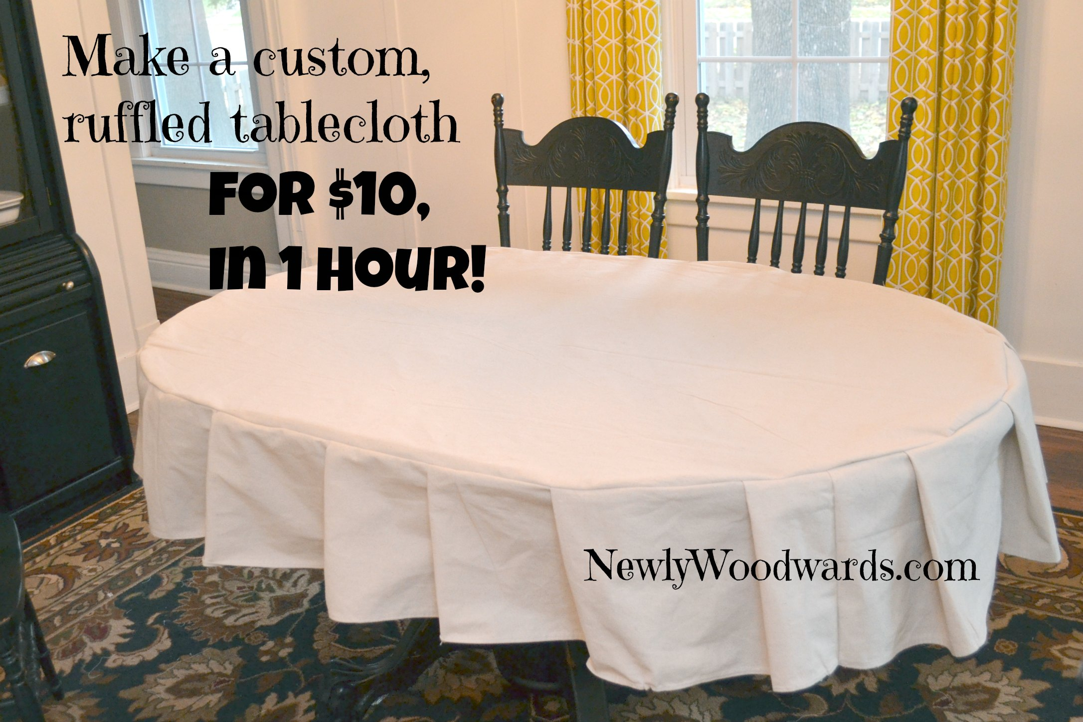 Etonnant Ruffled Tablecloth Custom DIY
