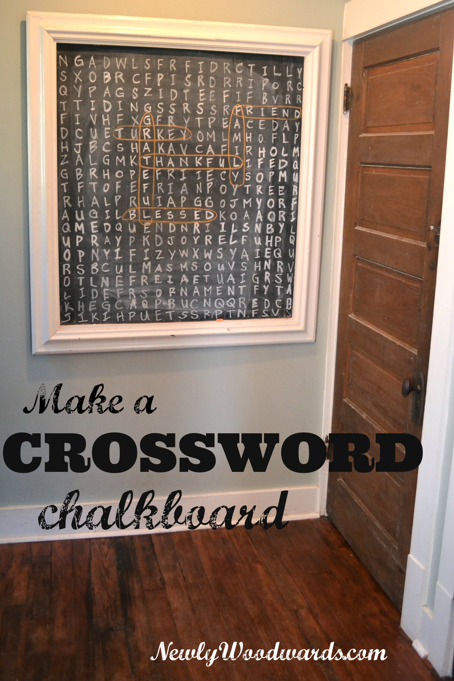 Thanksgiving crossword chalkboard