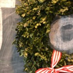 Boxwood wreath chalkboard3