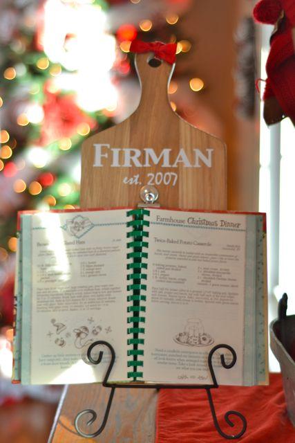 Custom cookbook holder3