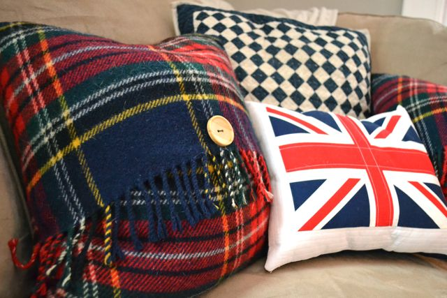 Plaid wool blanket to Christmas pillow6