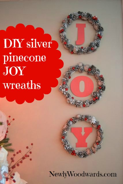 Silver pinecone wreaths