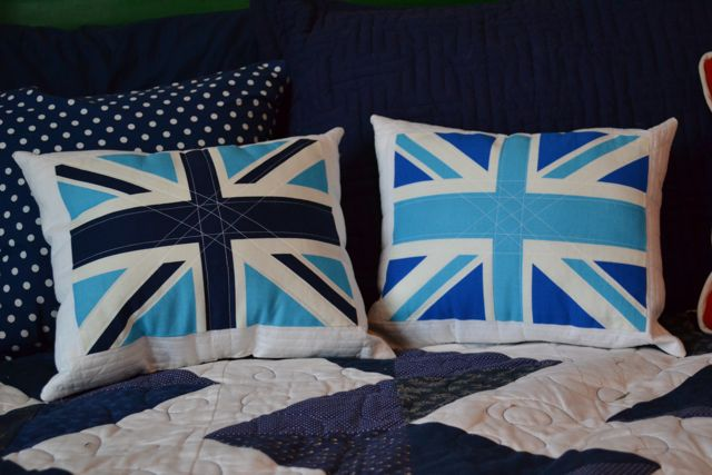 Union Jack quilted pillows1
