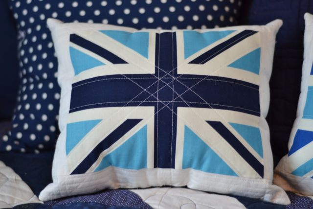Union Jack quilted pillows3