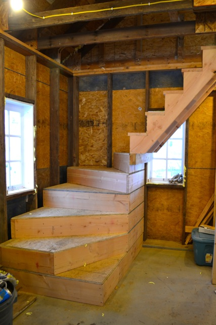 Barn apartment stairs 1