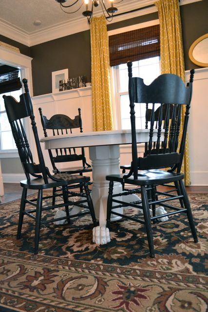 Painting A Dining Room Table Grey NewlyWoodwards - Claw foot dining room table