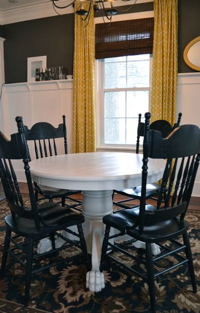 Painting A Dining Room Table Grey Newlywoodwards