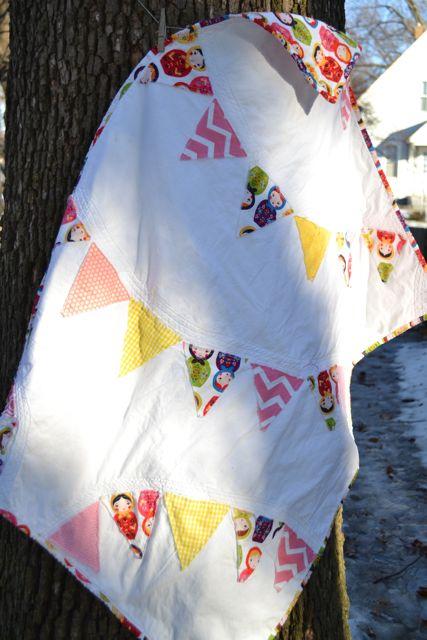 Nesting dolls pennant quilt1
