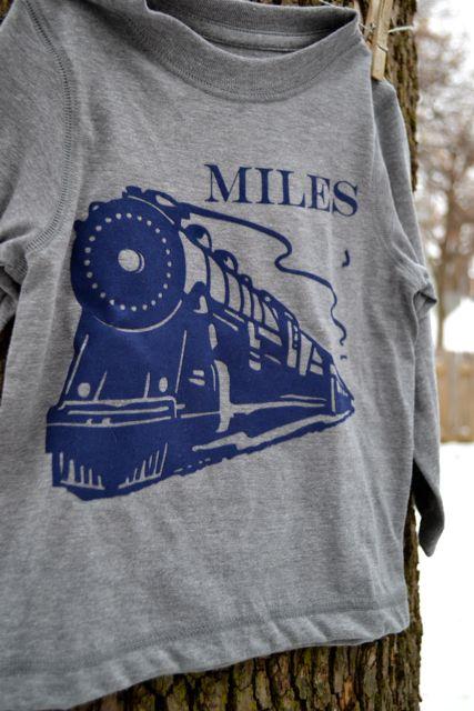 Train toddler shirt Silhouette2