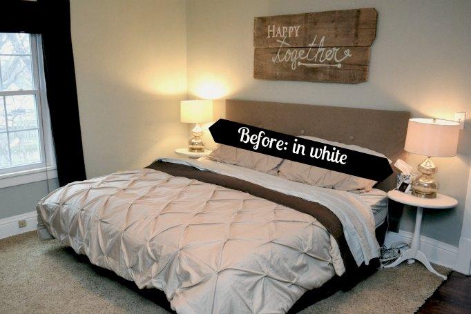 Bedroom white nightstands
