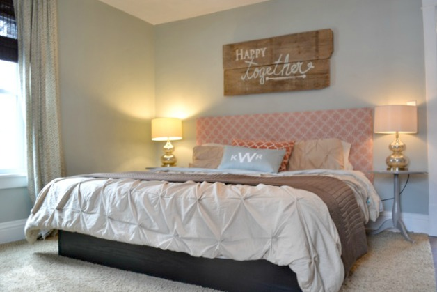 Orange blue brown bedroom1