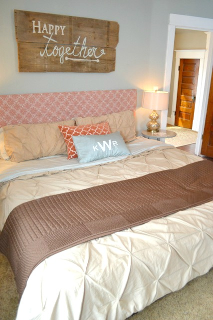Orange blue brown bedroom3