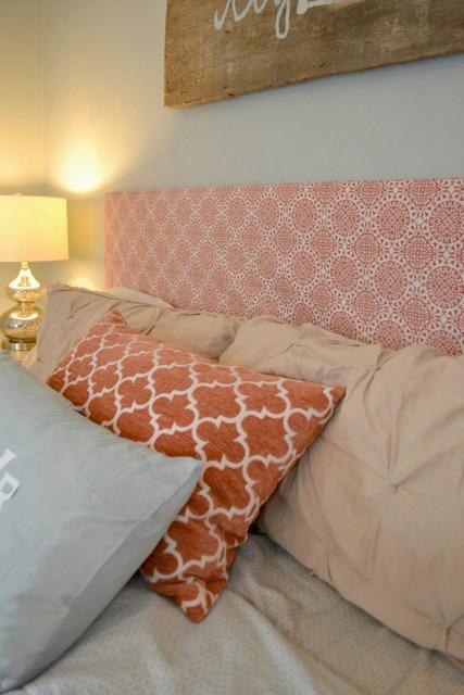 Orange blue brown bedroom6