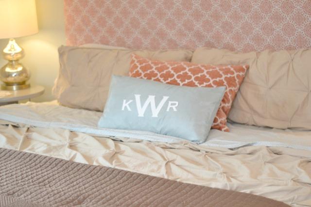 Orange blue brown bedroom9