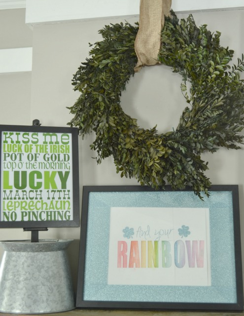 Find your Rainbow St. Patricks Day Mantel